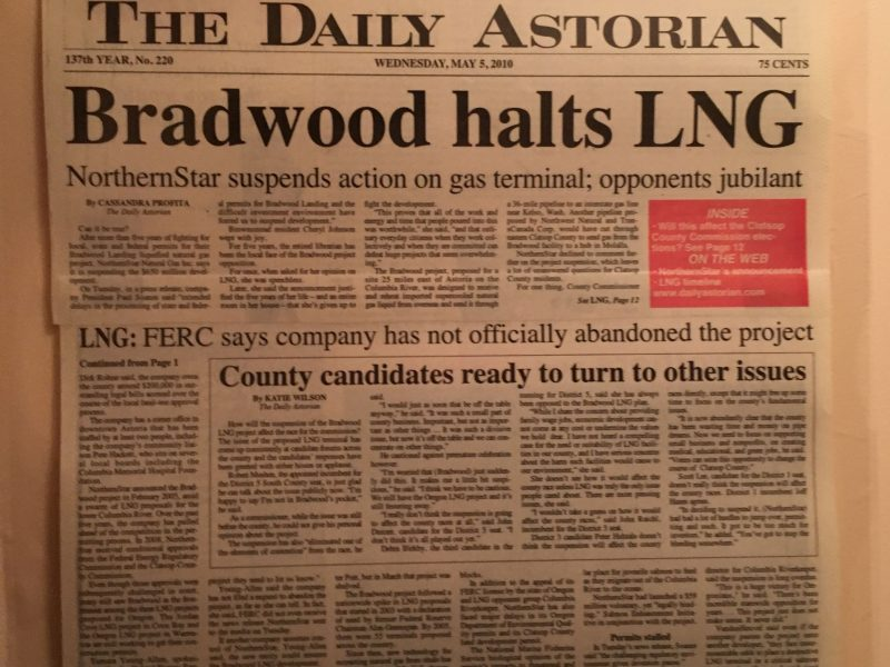 Bradwood halts LNG